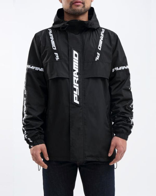 Black Pyramid Logo Pullover Jacket (Black)
