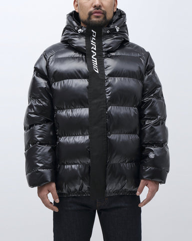 Black Pyramid Placket Puffy Jacket