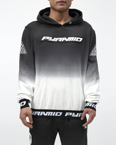 Black Pyramid Dip Dye Hoody (BLACK)