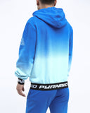 Black Pyramid Dip Dye Hoody (BLUE)