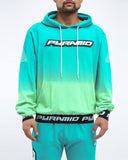 Black Pyramid Dip Dye Hoody (GREEN)