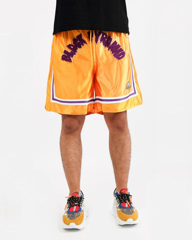 Black Pyramid Drip B Ball Shorts (Yellow)