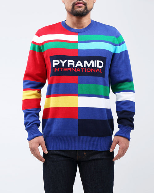 BP Broken Stripe Crewneck