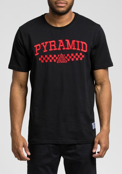 Black Pyramid Checker Tee