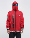 Black Pyramid Goggle Hoody (RED)