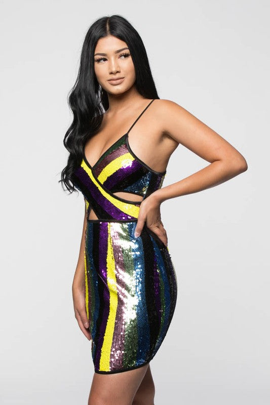 Charli Sequin Dress