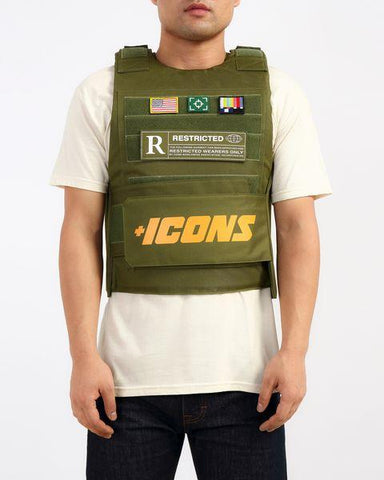 Icons Vest (Olive)