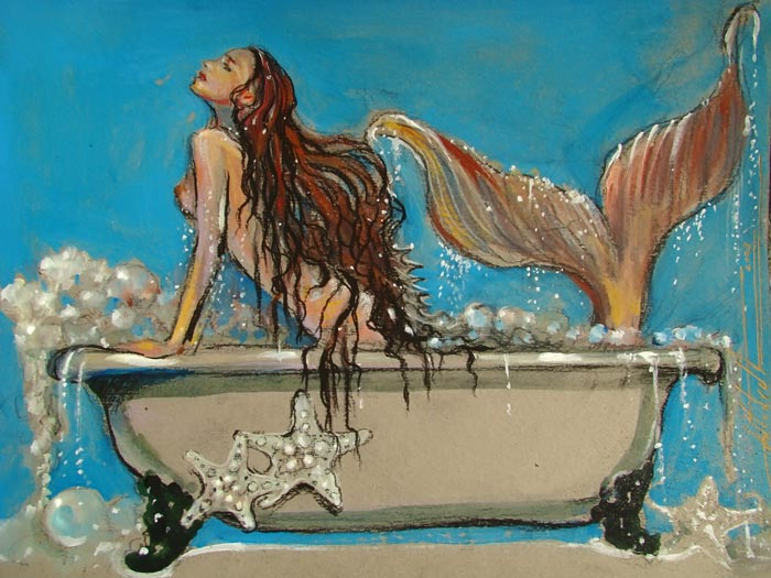 Mermaid Tub Tea ~ bubbling blue botanicals