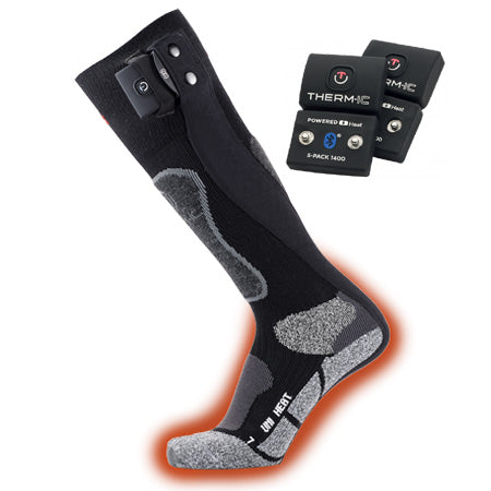 Thermic Powersocks Heat Uni + S-Pack 1400 Bluetooth Batteries