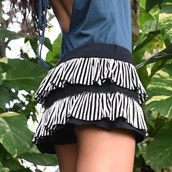 Sassy Mini Skirt Short Combo