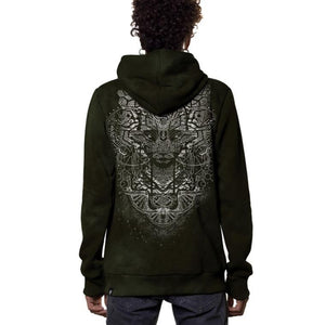 Plazmalab Digital Nature Olive Hoodie
