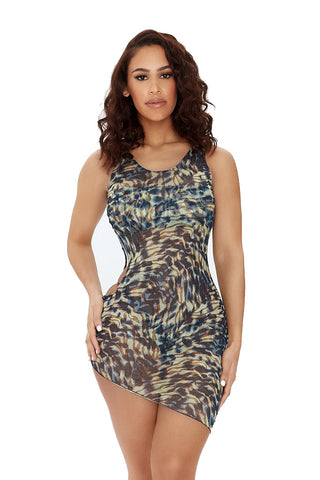 resort ready set-brown/blue multiprint - Icon