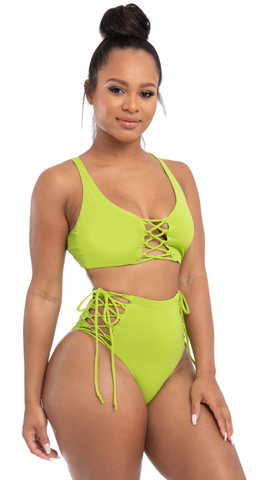 samoa highwaist set-green - Icon