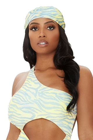all wrapped up headscarf-yellow zebra print
