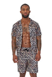 laguna nights shirt-multicolor zebra print - Icon