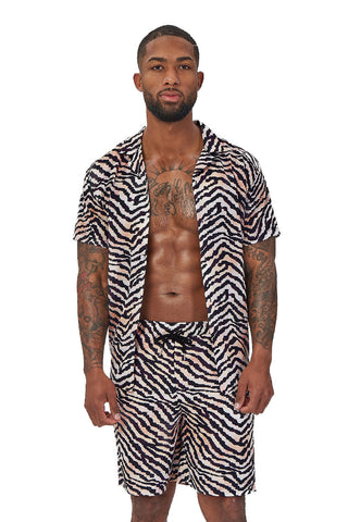 laguna nights shirt-multicolor zebra print
