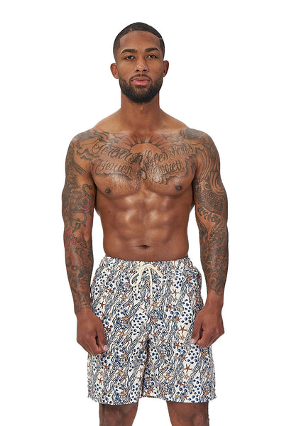 crew love beach shorts-starfish print - Icon