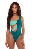 attention seeker swimsuit- teal