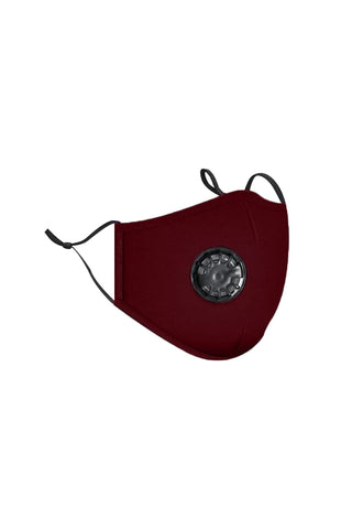 respirator valve face mask-burgundy/red - Icon