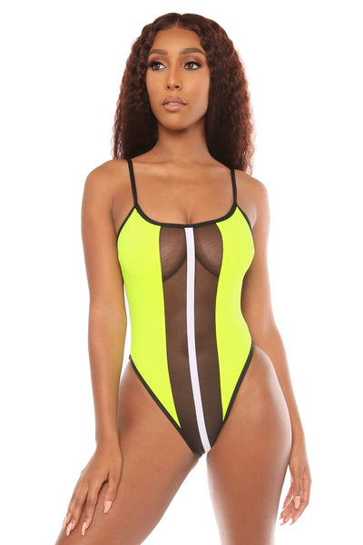 set things straight swimsuit- yellow