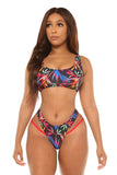 just add water bikini-black print - Icon