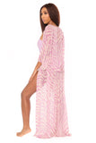 in the flow cover up- zebra print