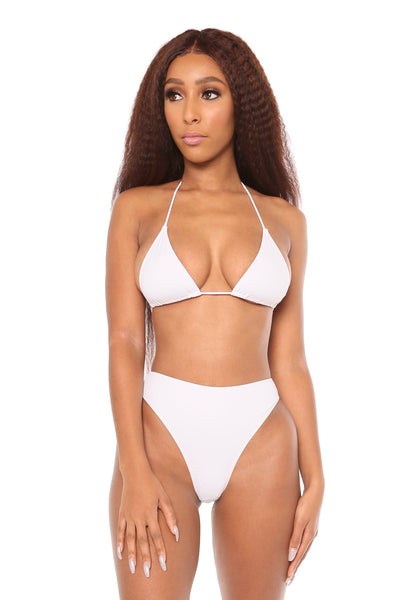 love triangle top- white