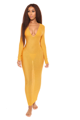rio isle cover up- yellow
