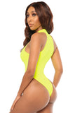 you're just my stripe monokini- yellow