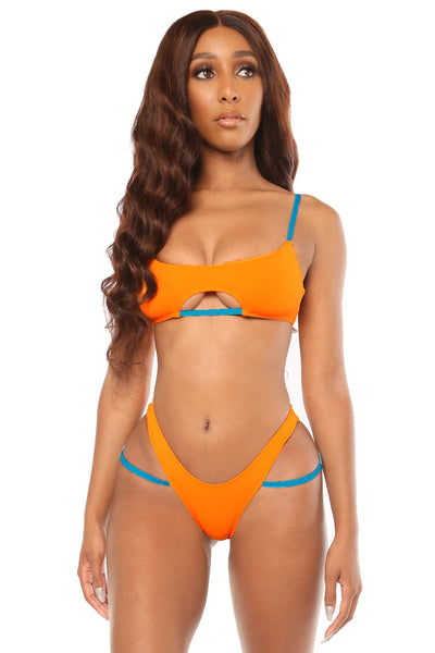 drawing the line bikini- orange