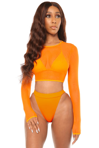 glow with the flow bikini- orange