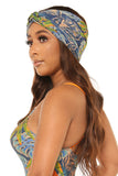 heads up headband-blue floral print - Icon
