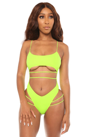 in a daze swimsuit- green