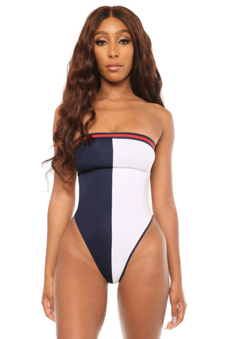 another classic monokini- navy