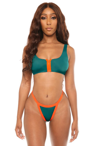 play it cool bikini- green