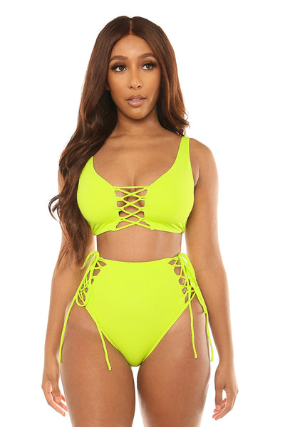 samoa highwaist set-neon green - Icon