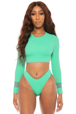 smooth sailing bikini- mint green