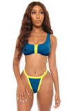 play it cool bikini- blue