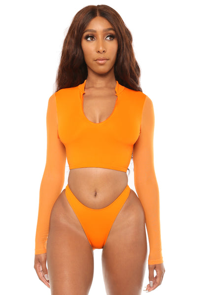 sleeve it to me bikini- orange