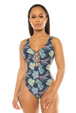 aloha swimsuit-blue print - Icon