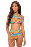 down to chill bikini- orange