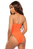 first class monokini- orange - Icon