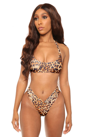 feline fierce bikini- brown