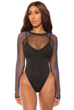 such a mesh swimsuit- black