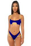 drawing the line bikini- blue