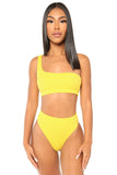 plain and simple bikini- yellow
