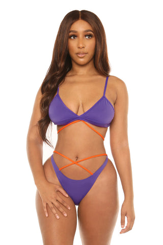 make the cut bikini-purple - Icon