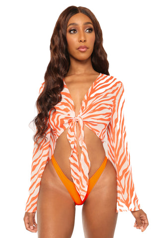 born this way bikini- zebra