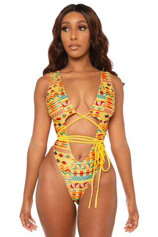 ties on the prize monokini- tribal