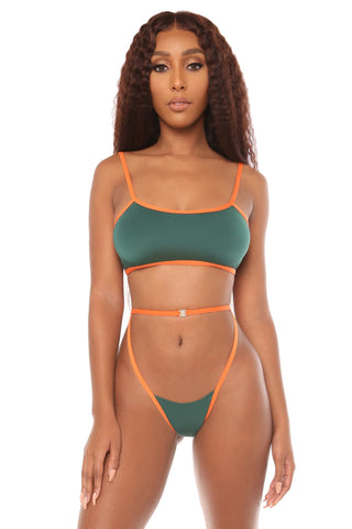 heat wave bikini- green